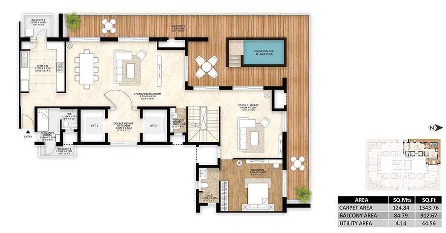 tower-a-4BHK-penthouse-lower-unit-plan