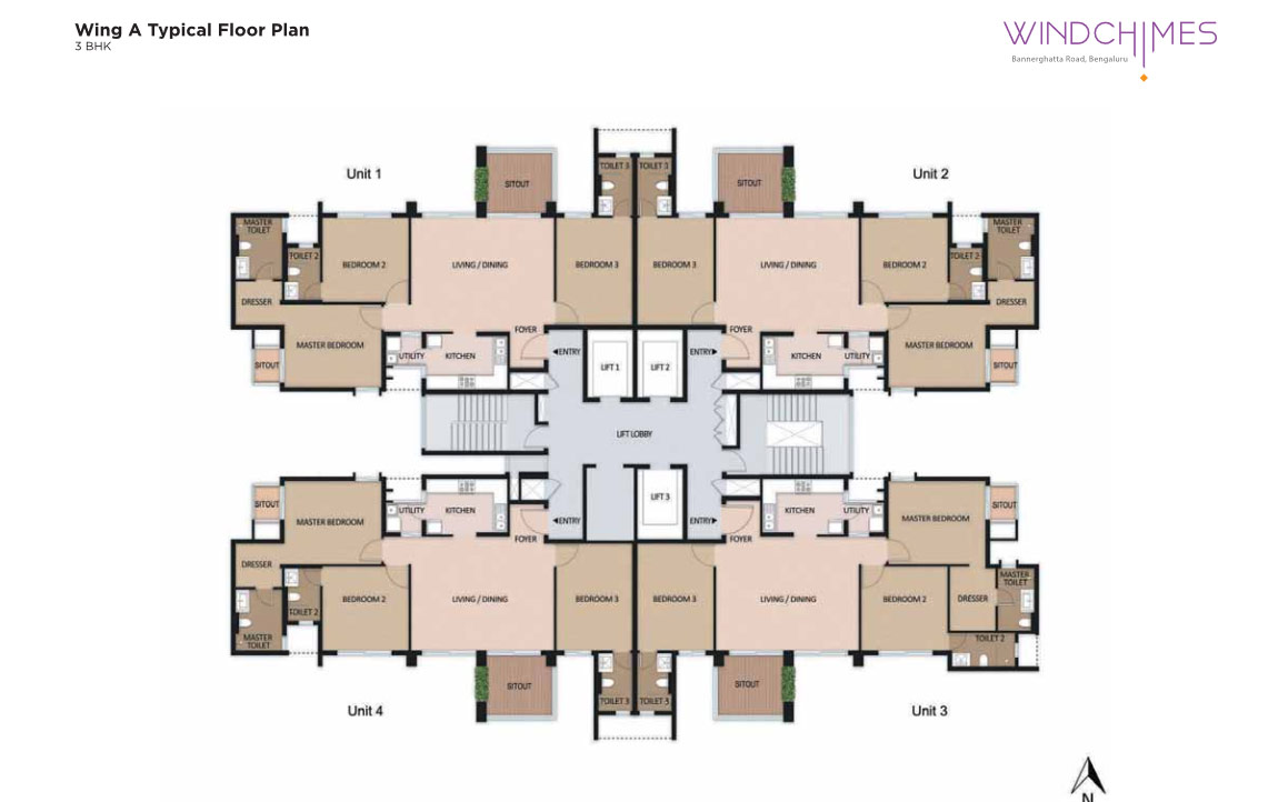 Wing A 3BHK