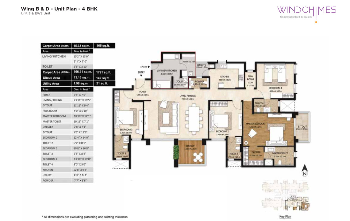 Wing B & D 4BHK Unit 3