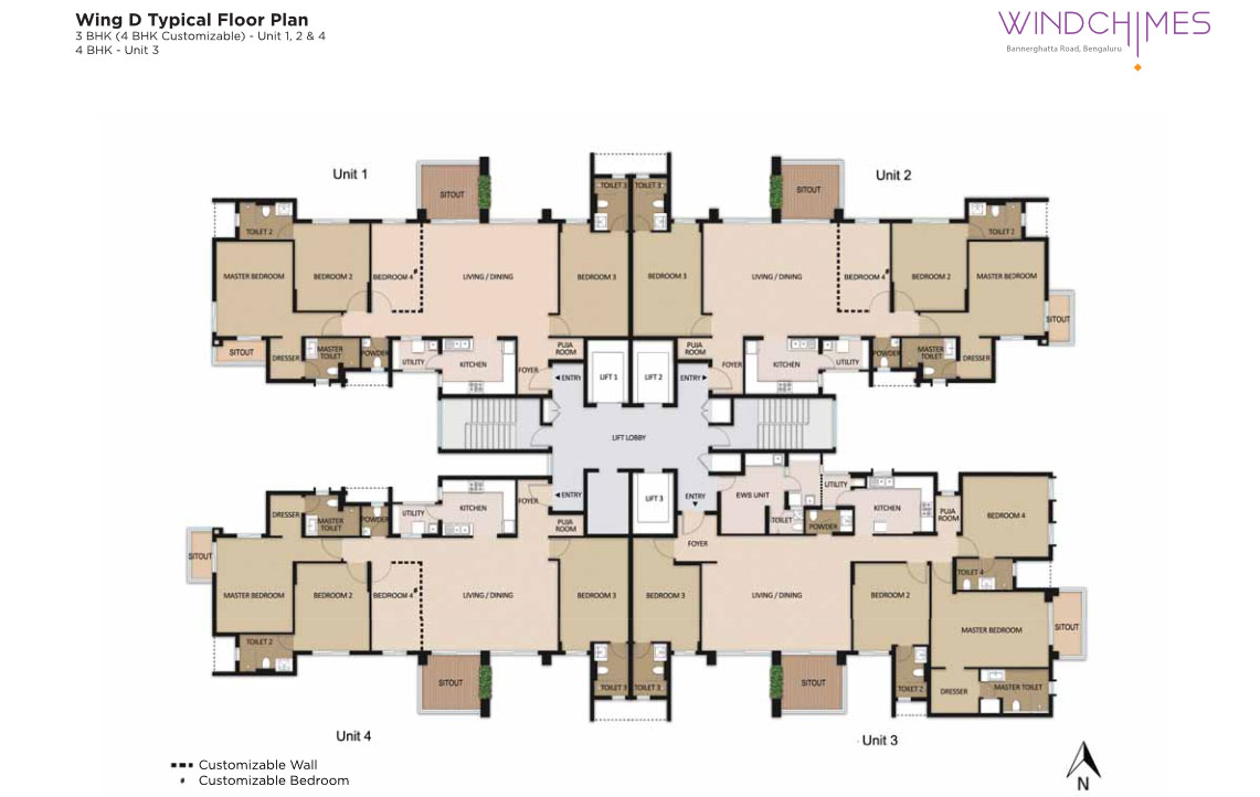 Wing D 3BHK