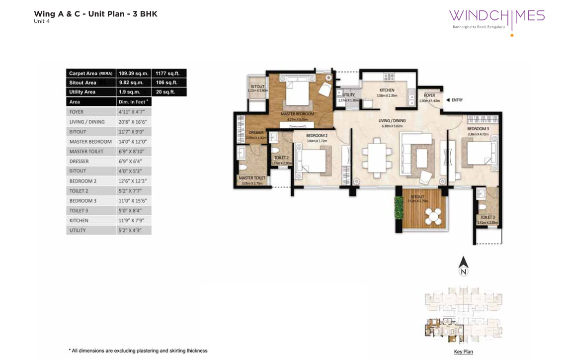 Wing A & C 3BHK Unit 4